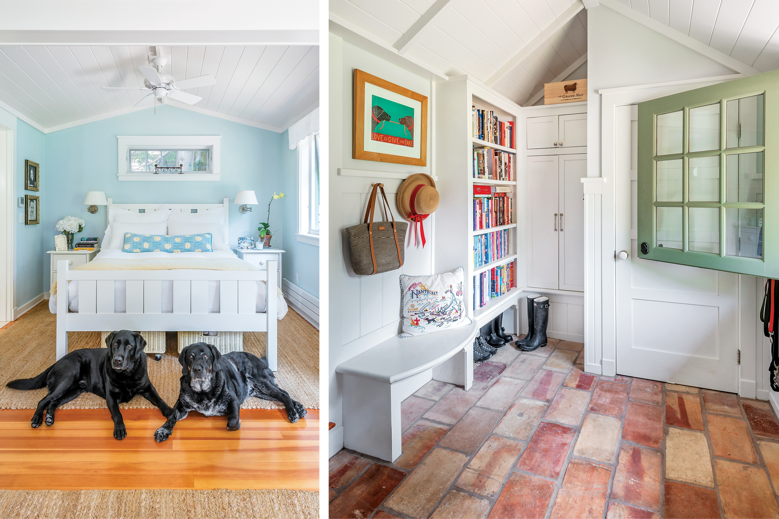 Jamestown, cottage, decor, entryway, master suite