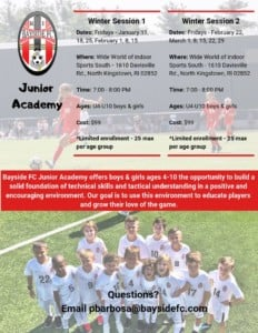 Bayside FC Juniors @ Wide World Of Indoor South  | North Kingstown | Rhode Island | United States