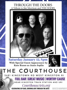 Through the Doors – The Doors Tribute Opener Piece of My Pearl @ The Courthouse Center for the Arts | South Kingstown | Rhode Island | United States