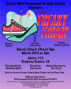 Disney's Freaky Friday the Musical, presented by the Exeter West Greenwich Senior High Drama @ Exeter-West Greenwich Jr/Sr High School | West Greenwich | Rhode Island | United States