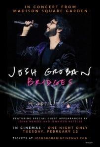 "Showcase Cinemas Presents: ""Josh Groban Bridges from Madison Square Garden"" @ Showcase Cinemas Warwick | East Greenwich | Rhode Island | United States"