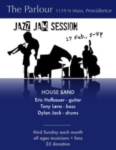 Parlour Jazz Jam - Eric Hofbauer Trio and Jazz 101 @ The Parkour   Providence   Rhode Island   United States