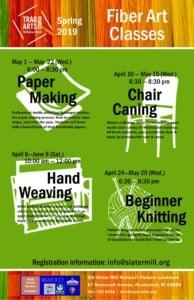 Spring 2019 Fiber Art Classes @ Slater Mill | Pawtucket | Rhode Island | United States
