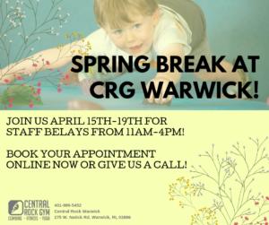 Spring Break at Central Rock Warwick @ Central Rock Warwick | Warwick | Rhode Island | United States