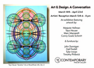 Opening Reception - Art and Design: A Conversation @ YJ Contemporary Fine Art | East Greenwich | Rhode Island | United States