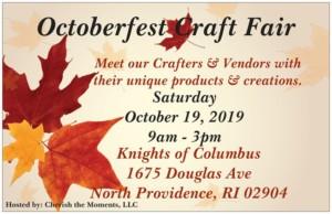 Octoberfest Craft Fair @ Knights of Columbus   North Providence   Rhode Island   United States