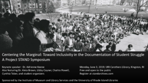 Centering the Marginal: Toward Inclusivity in the Documentation of Student Struggle @ University Libraries | South Kingstown | Rhode Island | United States