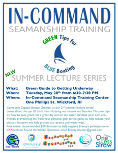 Green Tips for Blue Boating: Green Guide to Getting Underway @ In-Command Seamanship Training Center | North Kingstown | Rhode Island | United States