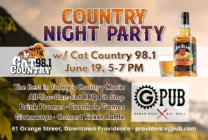 Country Night Party with Cat Country 98.1 @ Providence GPub | Providence | Rhode Island | United States