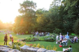 Music at Sunset: Panoramic View: Steel Drums @ Blithewold Mansion, Gardens, and Arboretum | Bristol | Rhode Island | United States