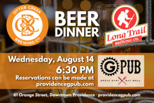Otter Creek and Long Trail Ale Beer Dinner @ Providence GPub | Providence | Rhode Island | United States