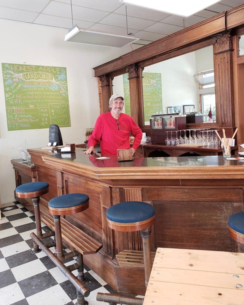 bar at cidery