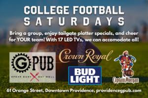 College Football Saturdays at GPub @ Providence GPub | Providence | Rhode Island | United States