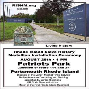 First Installation of Rhode Island Slave History Medallions @ Patriots Park | Portsmouth | Rhode Island | United States