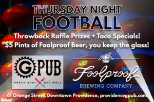 Thursday Night Football at GPub @ Providence GPub | Providence | Rhode Island | United States
