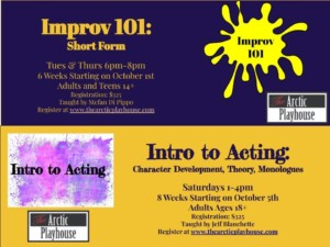 Improv 101: Short Form Improv @ The Arctic Playhouse | West Warwick | Rhode Island | United States