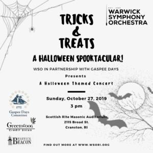 WSO- Tricks and Treats: A Halloween Spooktacular @ Scottish Rite Masonic Center Auditorium | Cranston | Rhode Island | United States