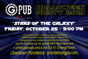 """""""Stars of the Galaxy"""" Halloween Party at GPub @ Providence GPub   Providence   Rhode Island   United States"""