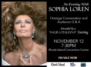 An Evening with Sophia Loren @ Rhode Island Convention Center | Providence | Rhode Island | United States