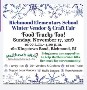 Richmond Elementary School Winter Vendor and Craft Fair @ Richmond Elementary School | Richmond | Rhode Island | United States