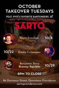 October Takeover Tuesdays at Sarto @ Sarto | Providence | Rhode Island | United States