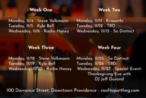 Unplugged: Live Music Series @ Rooftop at the Providence G | Providence | Rhode Island | United States