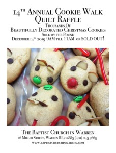 Cookie Walk Fundraiser at Baptist Church in Warren @ Baptist Church in Warren | Warren | Rhode Island | United States