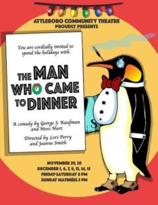 The Man Who Came to Dinner @ Attleboro Community Theatre | Attleboro | Massachusetts | United States