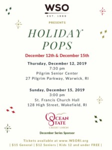 WSO Holiday Pops- Seasonal Favorites for All Number One @ Pilgrim Senior Center | Warwick | Rhode Island | United States