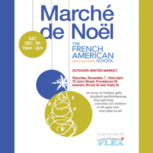 Marché de Noël–French Outdoor Winter Market @ French American School of Rhode Island | Providence | Rhode Island | United States