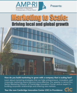 Marketing to Scale: Driving Local and Global Growth @ Cambridge Innovation Center | Providence | Rhode Island | United States
