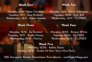 December Unplugged: Live Music Series at The Rooftop @ Rooftop at the Providence G | Providence | Rhode Island | United States