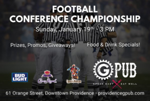 Football Conference Championship at GPub @ Providence GPub   Providence   Rhode Island   United States