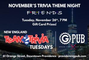 Trivia Tuesday: Friends Edition @ Providence GPub | Providence | Rhode Island | United States