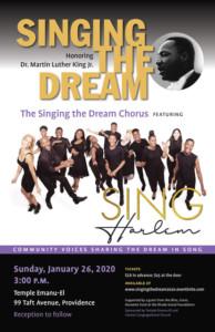 Singing the Dream 2020 @ Temple Emanu-El | Providence | Rhode Island | United States