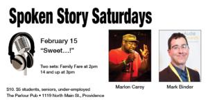 "Spoken Story Saturdays: January - ""Beginnings"" @ The Parlour | Providence | Rhode Island | United States"