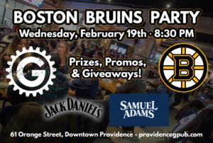 Boston Bruins Party @ Providence GPub | Providence | Rhode Island | United States