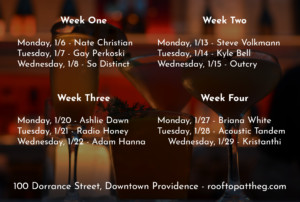 Unplugged: Live Acoustic Series at The Rooftop @ Rooftop at the Providence G | Providence | Rhode Island | United States