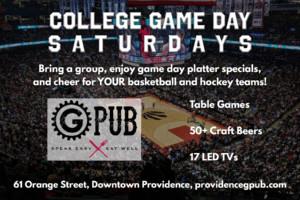 College Game Day Saturdays @ Providence GPub | Providence | Rhode Island | United States