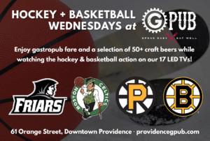 Hockey and Basketball Wednesdays at GPub @ Providence GPub | Providence | Rhode Island | United States