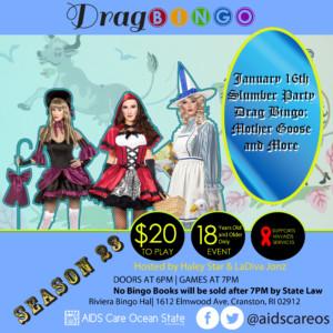 Drag Bingo: Slumber Party Drag Bingo-Mother Goose and More! @ Riviera Bingo Palace   Cranston   Rhode Island   United States