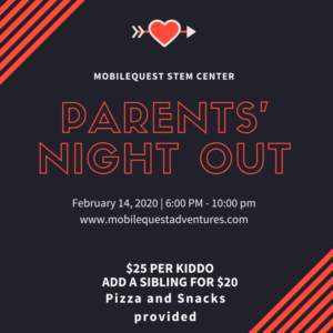 Parents' Night Out @ MobileQuest STEM Center | Cranston | Rhode Island | United States
