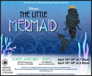 RIC Theatre: Disney's The Little Mermaid @ Roberts Hall Auditorium, Rhode Island College | Providence | Rhode Island | United States