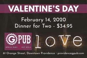 Valentine's Day at GPub @ Providence GPub | Providence | Rhode Island | United States