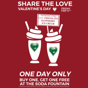 Two-for-One Valentine's Day at the Soda Fountain @ Green Line Apothecary (Wakefield) | South Kingstown | Rhode Island | United States