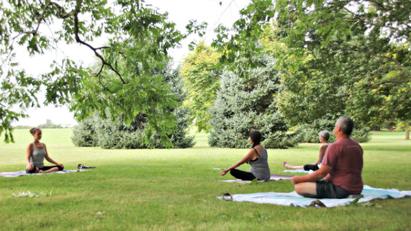Blithewolds Yoga In The Garden June 2 Sept 3 Tuesdays And Thursdays 11 Am Noon Members 10 Non 15 Blithewold Mansion Gardens