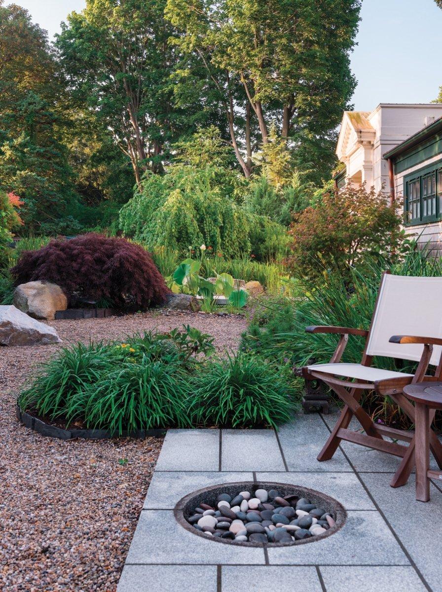 Experience zen in this tranquil garden rhode island monthly for Tranquil garden designs