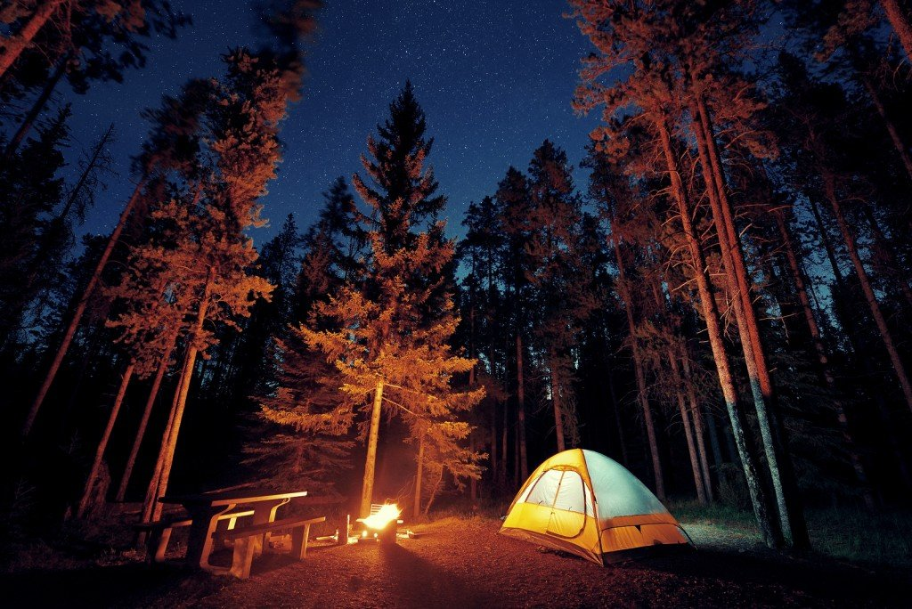 Bigstock Camping Under Stars With Bonfi 186254488
