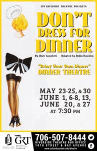CSU Theatre: Don't Dress for Dinner @ Riverside Theatre Complex        