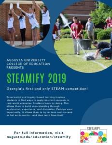 STEAMIFY: Register your team now @ Augusta University Summerville Campus